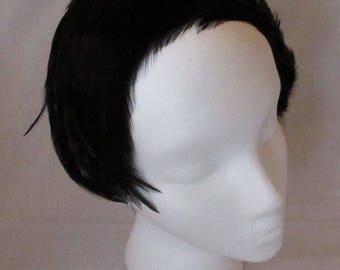 Black Feather Headband/Fascinator
