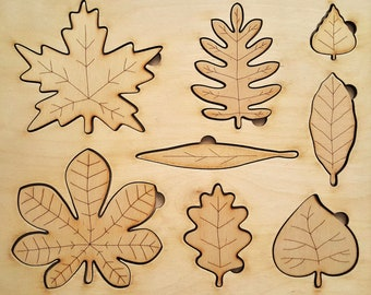 Wooden leaf Puzzle, Montessori Toys, Educational Toys, Learning Toys, Waldorf Wooden Toys, Handmade puzzle