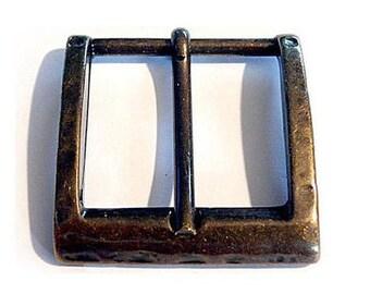 4 piece belt buckle 28 mm antique brass Belt buckle buckle LARP Medieval