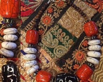 Ethnic beaded necklace