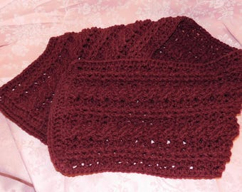 Handmade Crocheted Warm and Cozy Winter Scarf