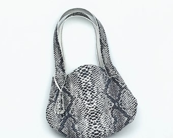 Faux-Snakeskin Purse - Handmade 18 Inch Doll Handbag, Purse Fits Like American Girl, Our Generation, Journey Girls Dolls