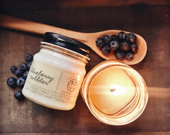 Blueberry Cobbler -  Hand Poured Soy Candle