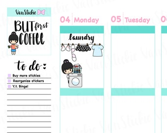 Chibits Set - Laundry Day Planner Stickers | VSS 010