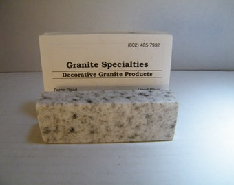 Business Card Holder/Granite Business Card Holder/Office Card Holder/ Employee Card Holder/Office Gift