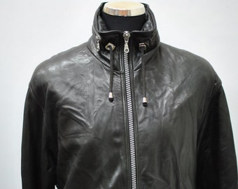 Vintage LEATHER JACKET , men's leather jacket .....(006)