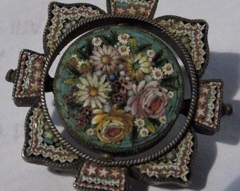 Vintage Petite Micro Mosaic 800 Silver