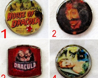 Photo Art Cabochons Vintage Horror  Resin in Vintage Watch Back Count Dracula Jewelry Making Phone Case Bow Center Decoden Mixed Media A2