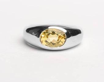 Heliodor Or Golden Beryl In Sterling Silver Ring
