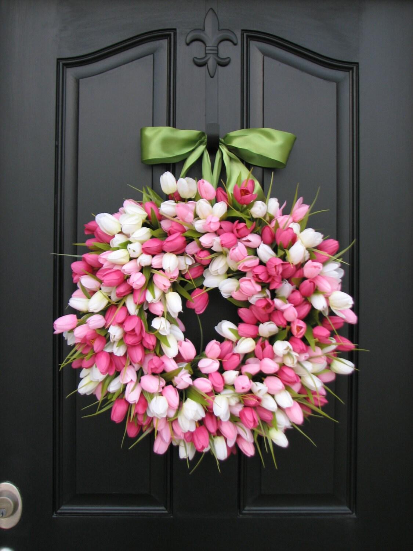 Spring tulip wreath front door wreath door wreaths description springtulip wreath tulips front door wreath door wreaths spring rubansaba