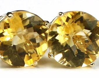 Citrine, 14KY Gold Post Earrings, E212