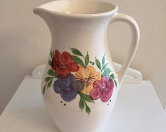 Vintage Floral Pitcher by Emerson Creek Pottery