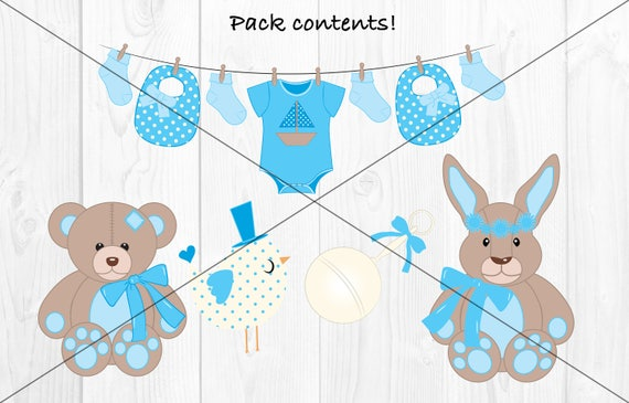Baby Boy Clipart, Baby Boy Vectors, New Baby Clipart, Boy Christening  Vectors, Christening Clipart, Baby Shower Clipart, Blue Baby Clipart
