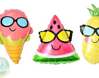 """18"""" Ice Cream Balloon - Watermelon Balloon - Pineapple Balloon"""