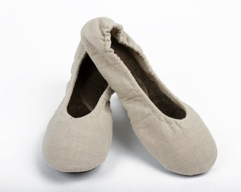 Girls Linen ballet slippers, school shoes, school slippers, School ballet slippers, Cute girls slippers