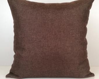 Chocolate Brown Pillow, Throw Pillow Cover, Decorative Pillow Cover, Cushion Cover, Pillowcase, Accent Pillow, Linen Pillow, Toss Pillow