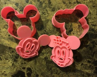 Mickey and Minnie Mouse 4pc Cookie Cutter Set  AA4