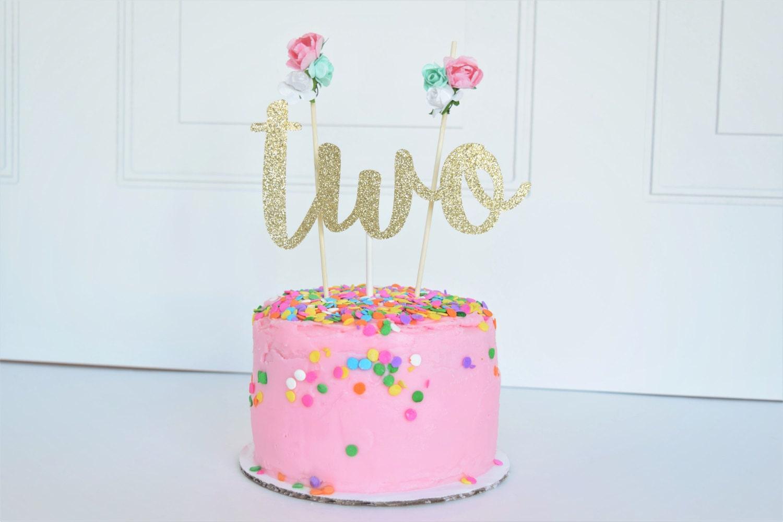 Sparkly Birthday Cake