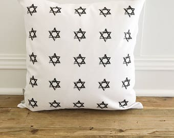 Star of David Stamp Pillow Cover
