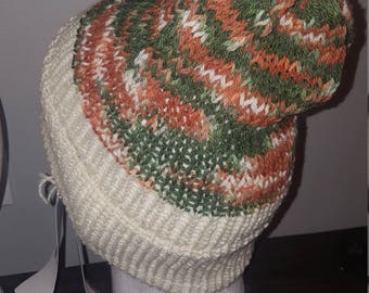 Alpaca Hat, white and camouflage
