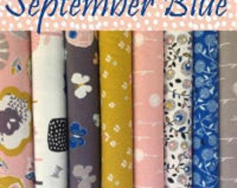 September Blue 8 FQ Bundle