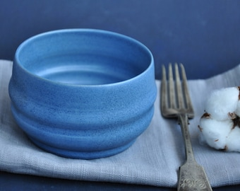 New Blue  Serving Bowl, Pottery Bowl, Ceramic Bowl