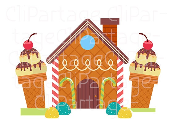 hansel and gretel cliparts candy house cliparts instant download rh etsystudio com From Hansel and Gretel House Hansel and Gretel House Plans
