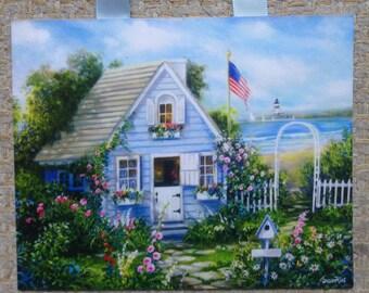 Cottage Art, Cottage By The Sea, Cottage Home Decor, Ocean Print, Seaside Art, Seaside Decor