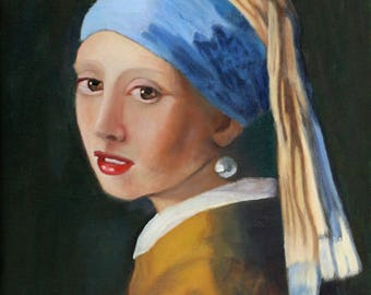 Girl With The Pearl Earring  Giclee Fine Art Canvas Reproduction Museum Wrapping