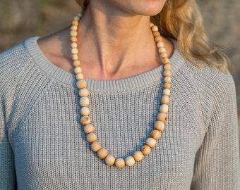 Wooden Nursing Necklace - Juniper Wood