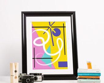 Geometric Abstract Art Print- Just Go