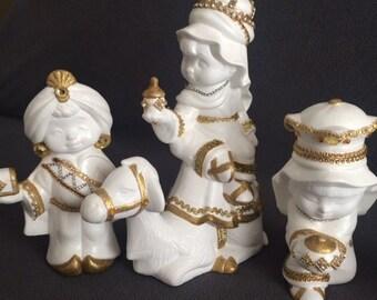 White Baby Nativity Set