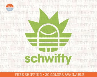 Schwifty - Rick and Morty - Vinyl Decal Car Decal Laptop Decal Phone Decal Yeti Decal Water Bottle Decal Gift for Friend Get Schwifty