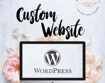 Custom Website Design, Wordpress Website Design, Web Design, Blog Design, Online Shop, Responsive Website and Blog, Ecommerce Web Design