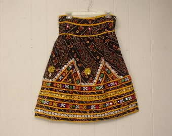 Vintage Skirt, Ethnic skirt, festival wear, Coachella clothing small