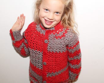 Childs Crocheted Sweater