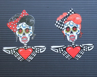 Day of the Dead Rockabilly Woman #133/#134