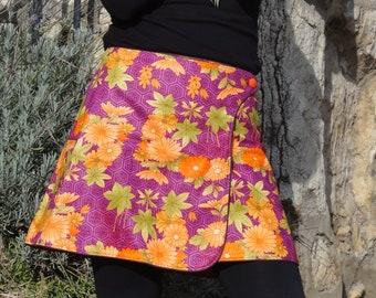 "Reversible a-line skirt is ""Purple"" range ""the Apalala"