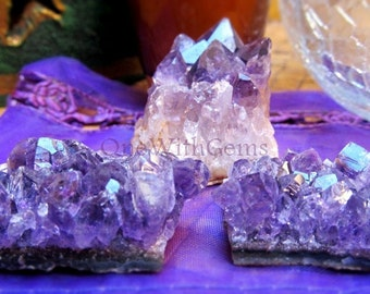 Amethyst Clusters For Crystal Grids, Healing Crystals, Calms The Mind, Clears Spaces