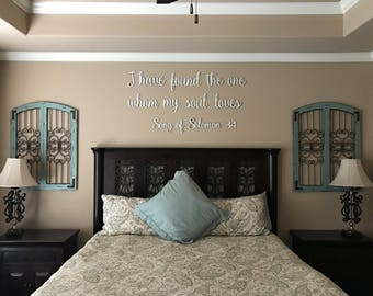I Have Found The One Whom My Soul Loves | Song of Solomon Quote Set Cutout