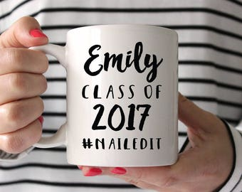 College Graduation Gift for Her Graduation Sorority Gift High School Graduation Gift Inspirational Mug Graduation Gift Funny Coffee Mug