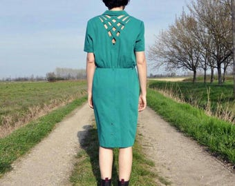 Vintage green dress Years ' 70