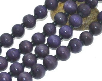 1 strand of 100 08mm purple wood beads