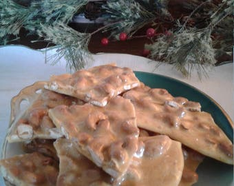 Cashew Brittle gift Christmas candy homemade peanut brittle Christmas brittle candy homemade candy