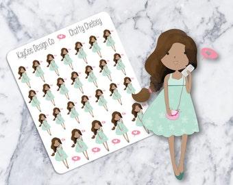 Chatty Chelsey / Planner Stickers / Hand Drawn / Tracking / Fits Erin Condren & MAMBI / Filofax / Kikki K / Scrapbook