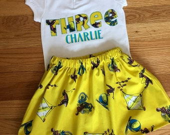Curious George birthday Outfit, Curious George skirt, curious george baby, Curious George outfit, curious george shirt, curious george party