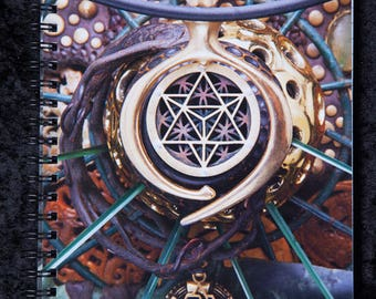 LIGHT WIZARD - Notebook - World Bridger - Artwork - Sacred Geometry - Visionary Art - Photography - Notepad - Diary - Journal - Book