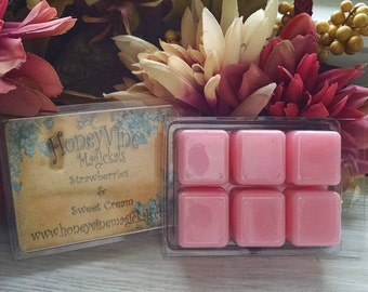 Strawberries and Cream Soy Wax Tart Melt