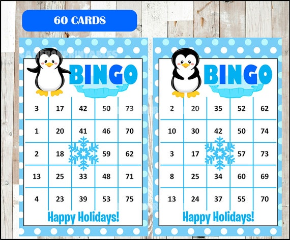 It's just a picture of Versatile Winter Bingo Cards Free Printable