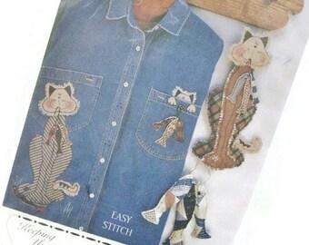 Cat and Fish Designs for Applique and Soft Sculpture | Shirt Applique